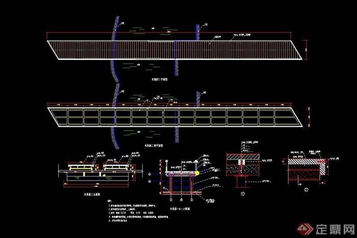 完整详细的木栈桥竞赛cad施工图万科可能设计住宅设计·图片