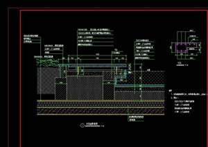 详细经典的木栈道素材设计cad施工图