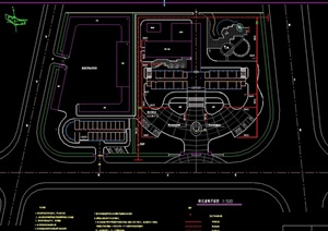 某详细的办公环境设计cad平面方案