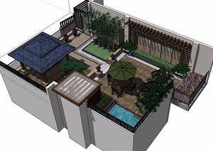 庭院花园独特详细SU(草图大师)模型