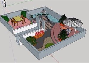 庭院景观设计SU(草图大师)模型