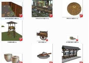 各种农家用具大集合suSU(草图大师)模型