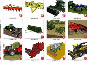 农业机械合集suSU(草图大师)模型