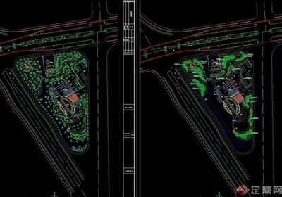 某绿地公园景观设计cad施工图