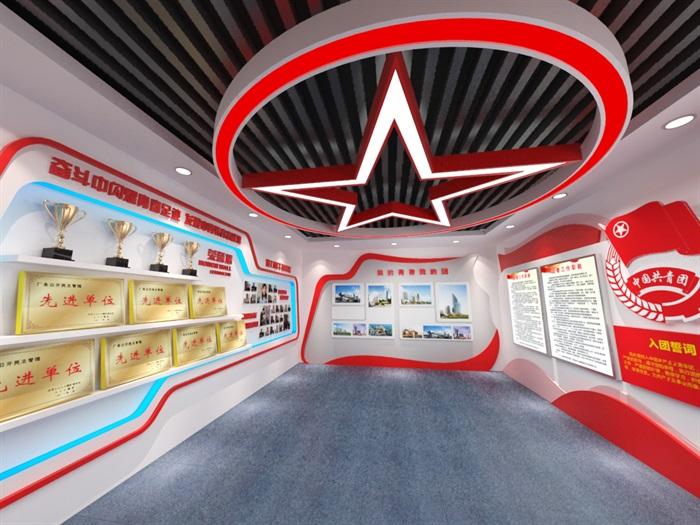 共青团员荣誉展厅3D模型及效果图(6)