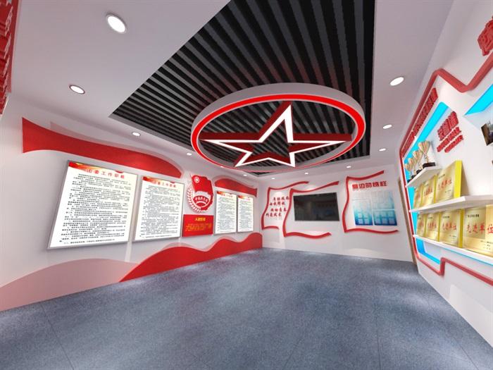 共青团员荣誉展厅3D模型及效果图(5)