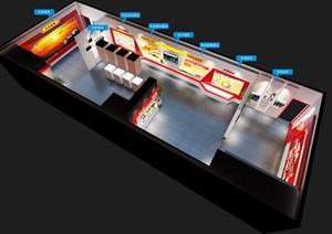 党建荣誉展厅3D模型及效果图