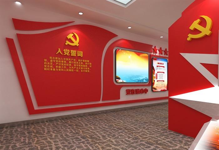 党建展厅系列展馆3D模型及效果图(2)