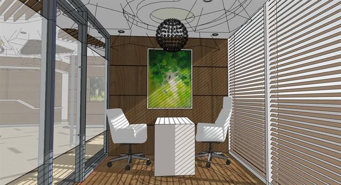 现代创意美容院商业接待大厅室内设计[原创]