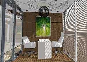 现代创意美容院商业接待大厅室内设计