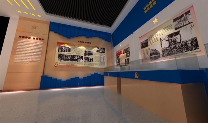 公安派出所警營文化展示中心3D模型及效果圖(2)