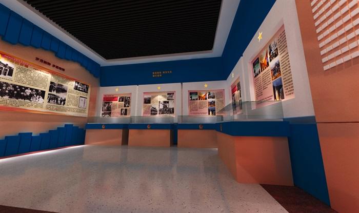 公安派出所警營文化展示中心3D模型及效果圖(3)