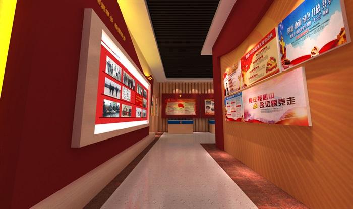 公安派出所警营文化展示中心3D模型及效果图(4)