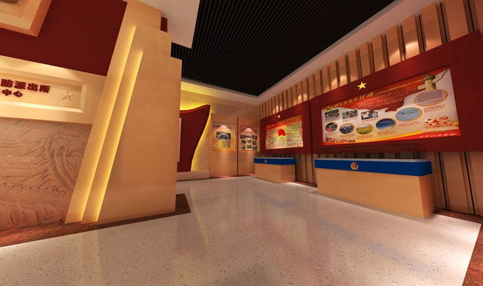 公安派出所警营文化展示中心3D模型及效果图(5)