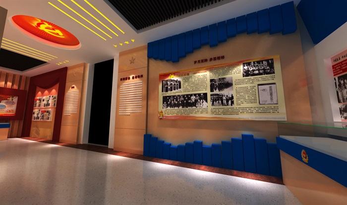 公安派出所警营文化展示中心3D模型及效果图(7)