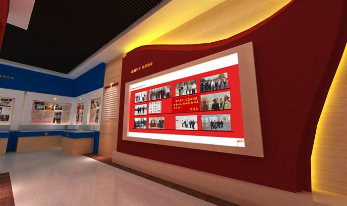 公安派出所警营文化展示中心3D模型及效果图(9)