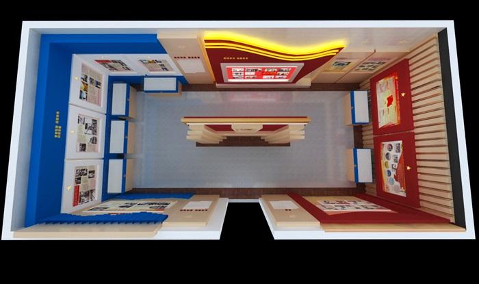 公安派出所警营文化展示中心3D模型及效果图(10)