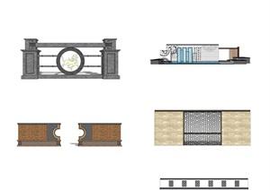 D00502-1新中式景墙4