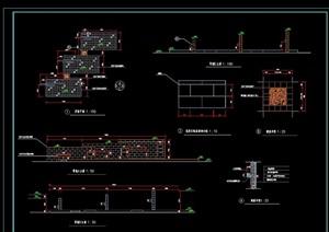 景墙影壁组图详细设计cad施工图