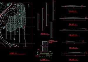 简单景墙设计cad施工图