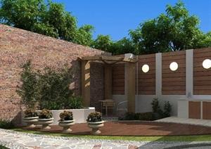 一个完整的袖珍庭院设计