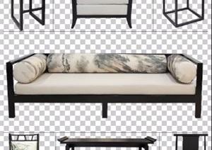 古典中式风格PSD分层家具素材