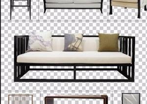 经典中式风格PSD分层家具素材