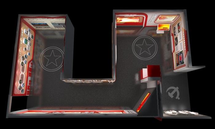 社区、党建宣传展厅3D模型及效果图(2)