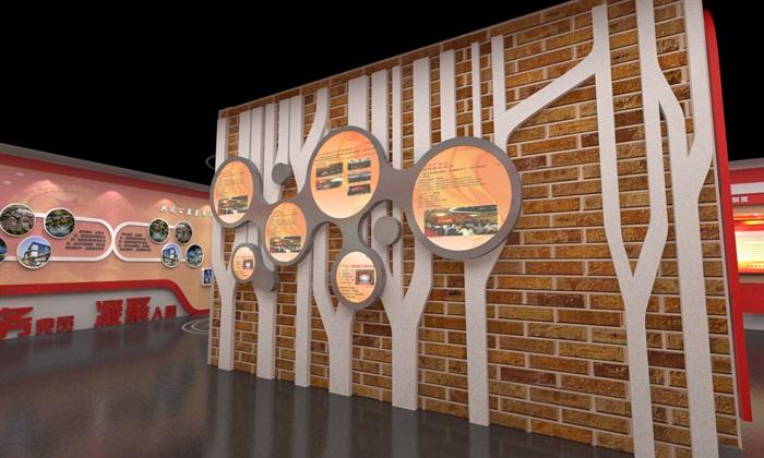 社区、党建宣传展厅3D模型及效果图(12)