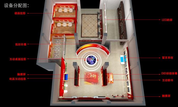 党群、党建服务中心3D模型及效果图(2)