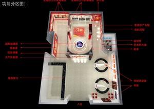 党建、党群服务中心设计3D模型及效果图