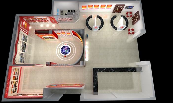 黨建、黨群服務中心設計3D模型及效果圖(15)