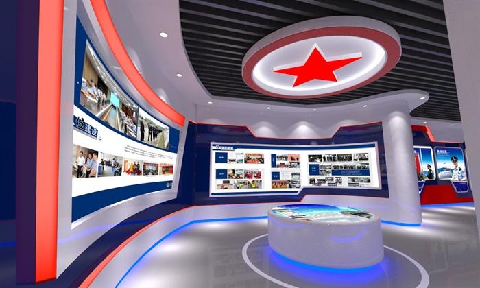 公安、派出所、军队荣誉展厅3D模型及效果图(1)