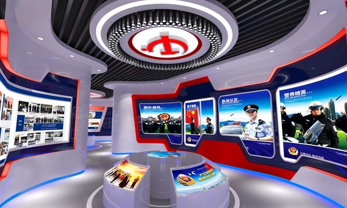 公安、派出所、军队荣誉展厅3D模型及效果图(3)