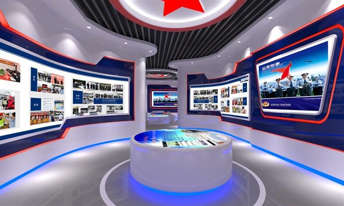 公安、派出所、军队荣誉展厅3D模型及效果图(2)