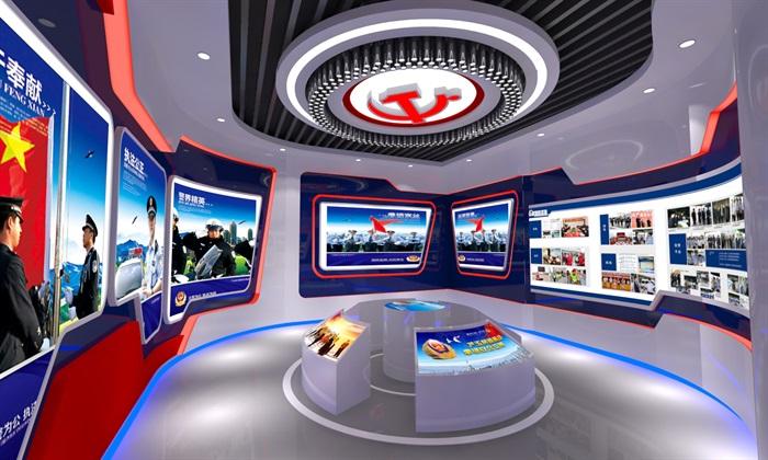 公安、派出所、军队荣誉展厅3D模型及效果图(4)