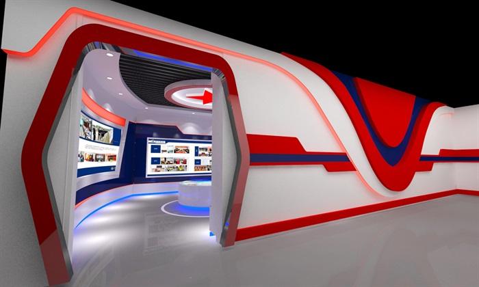 公安、派出所、军队荣誉展厅3D模型及效果图(6)