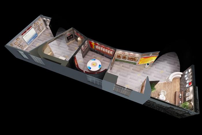 党建廉政教育展馆3D模型及效果图(12)