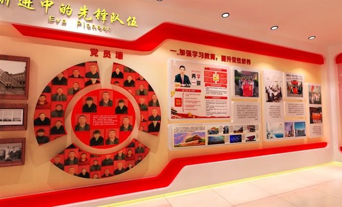 党建文化中心展厅教育全套设计3D及CAD效果图文件(6)