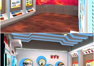 地税、税务局文化展厅3D模型及效果图