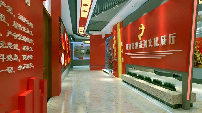 中国梦党建系列文化展厅3D模型及效果图(1)