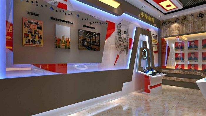 中国梦党建系列文化展厅3D模型及效果图(2)