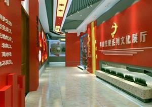中国梦党建系列文化展厅3D模型及效果图