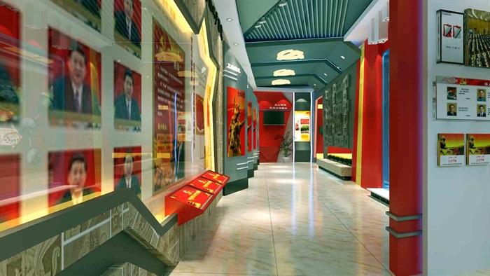 中国梦党建系列文化展厅3D模型及效果图(3)