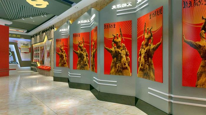 中国梦党建系列文化展厅3D模型及效果图(4)