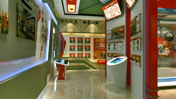 中国梦党建系列文化展厅3D模型及效果图(6)