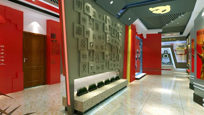 中国梦党建系列文化展厅3D模型及效果图(5)