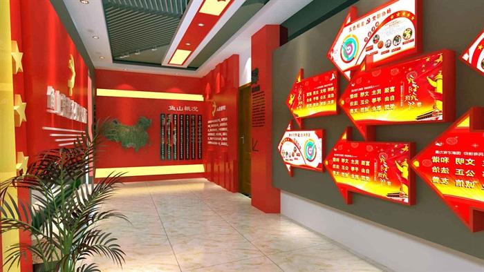 中国梦党建系列文化展厅3D模型及效果图(8)