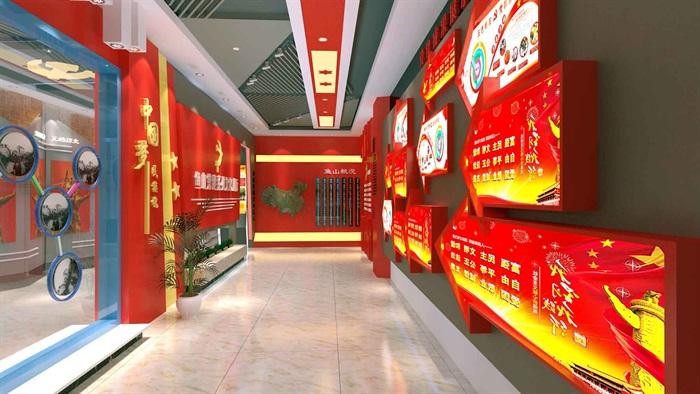 中国梦党建系列文化展厅3D模型及效果图(9)