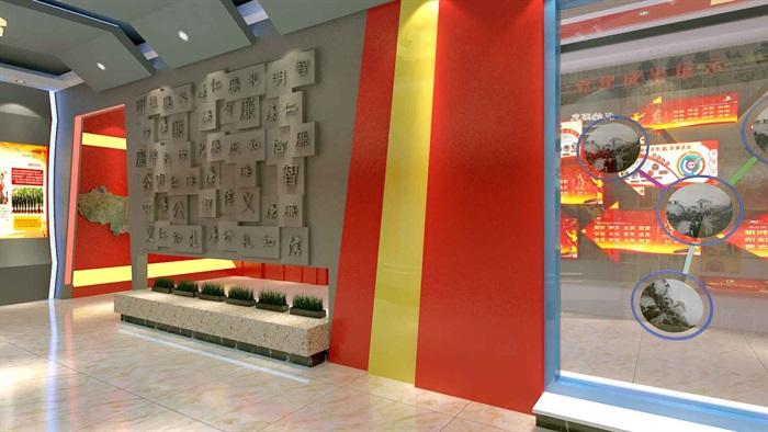 中国梦党建系列文化展厅3D模型及效果图(11)